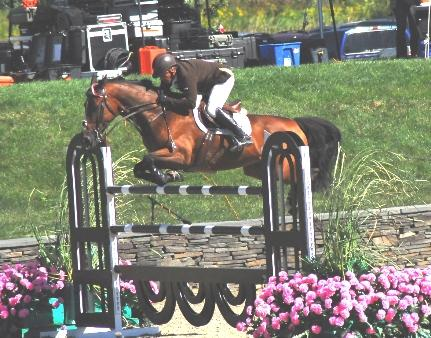 Coming in second was Todd Minikus, of Loxahatchee, Florida, who managed a clear first round with Quality Girl despite the fact that the mare lost a front show early in the round.