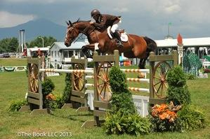 Todd Minikus rides Quality Girl to victory in the ,000 ABBA Vet Supply Open Jumper Classic. (c) The Book LLC
