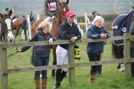 Tom Gadsby, center, was killed today in a rotational fall at Somerford Park. Photo courtesy of Uptown Eventing.