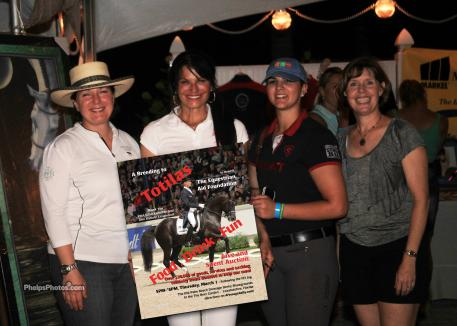 Carol Cohen, second from left, won the breeding to World Champion Totilas during the EAF/Palm Beach Dressage Derby 'Inspection Reception' auction. (Photo:Mary Phelps for Phelpsphotos.com)