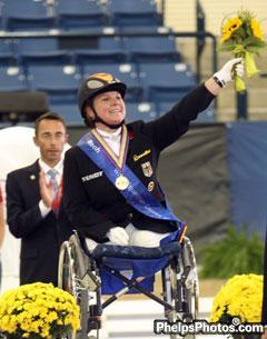 German gold medalist (Grade III), Dr. Angelika Trabert