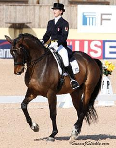 Canada's Belinda Trussell and Anton, owned by Robyn Eames, won the WEF Dressage Classic, the FEI Grand Prix CDI 3*. with a score of 70.638%Credit: susanjstickle.com