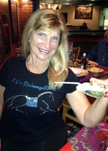 "Mary Phelps debuts the ""I Do DressageDaily"" T shirt, and the Oceana Grill in New Orleans."