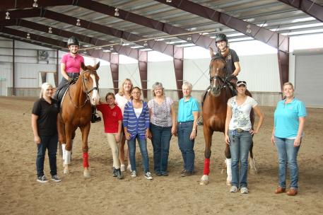 Utah Dressage Society young riders at a recent dressage clinic. (Photo: courtesy of Utah Dressage Society)