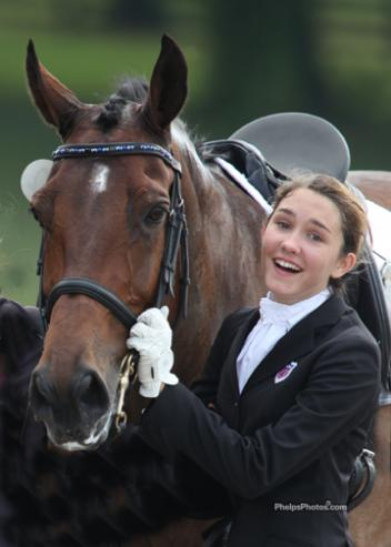 Emerging Dressage Athlete graduate yden Uhlir won individual Gold at the 2012 North American Junior Young Riders' Championships