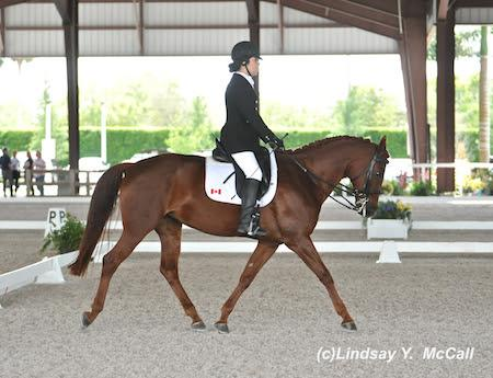 Ashley Gowanlock (CAN) Grade Ib and Collegiate Sweet Leilani, owned by Kendalyne Overway.