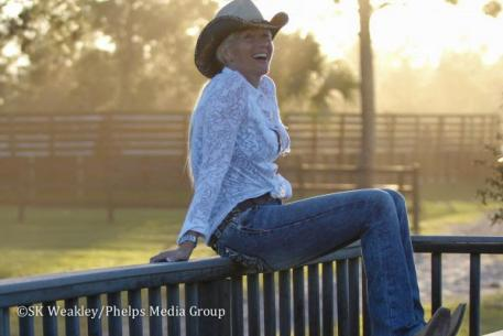 Silvia Rizzo enjoys a Florida sunset Western style