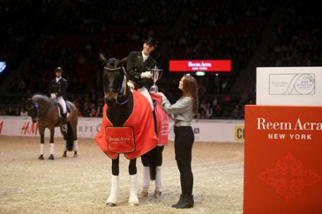 Germany's Jessica von Bredow-Werndl and Unee BB stormed to victory in style at the seventh leg of the Reem Acra FEI World Cup™ Dressage Western European League (Photos: FEI/Roland Thunholm)
