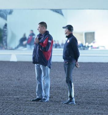 Scott Hassler and Steffen Peters at the 2014 USDF Trainer's Conference  Photo: Betsy LaBelle