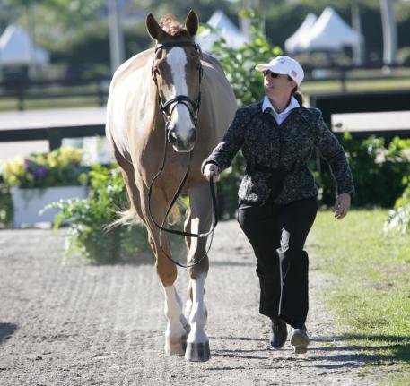 Heather Mason and Zar at the Adequan Global Dressage Festival Photo: Betsy LaBelle