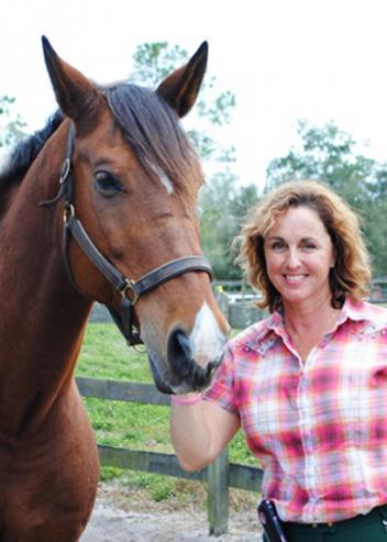 "Louise Levesque and ""James"". Louise owns and manages Spring Garden Dressage, In De Leon Springs. Check out our Real Estate Listing for Boarding and Training. More to come soon!"