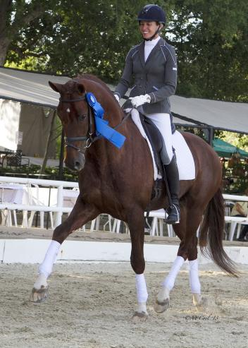 "Charlotte Jorst rode ""Vitalis"" to big scores and a big win in the six-year-old division of the Markel/USEF Young Horse Dressage Western Selection Trial (Photo: McCool Photography)"