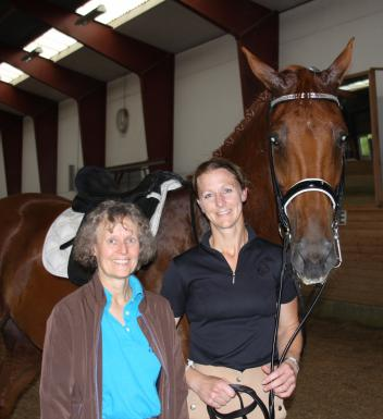 Mary Wanless (left) and Olympian Heather Blitz with Paragon. (Photo: courtesy of Rob McKean)