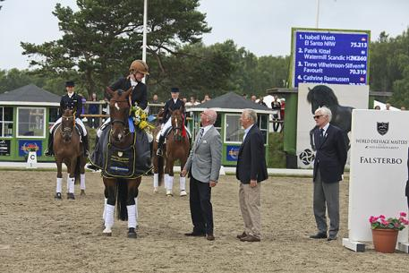 Isabell Werth winning GP with El Santo at the World Dressage Masters 2012