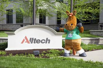 Norman, the official mascot of the Alltech FEI World Equestrian Games™ 2014 in Normandy, toured Alltech's corporate headquarters near Lexington, KY, USA.