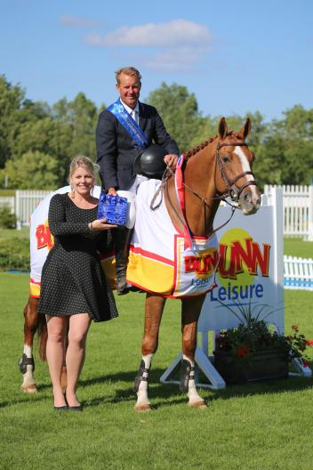 Hickstead Director Daisy Bunn with William Funnell. Image (c) Samantha Lamb.
