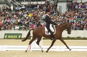 William Fox-Pitt of Great Britain rode Chilli Morning to first place in dressage at the Rolex Kentucky Three-Day Event, Presented by Land Rover. (Michelle Dunn photo)