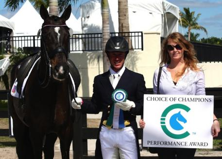 Justin Hardin and Holly Johnson at the 2014 Adequan Global Dressage Festival.