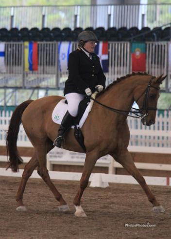 Lise Yervasi from Oregon and Brendon Braveheart made their first CPEDI appearance and earned their first qualifying score in the Grade IV Individual test