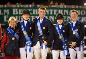 The winning U.S. Young Rider Team (StockImageServices.com)