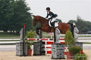 Caroline Martin aboard Quantum Solace on their way to the Eventing CCI2* Individual Gold medal (Brant Gamma Photos)