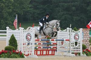 Nicole Doolittle of Area III, the Eventing CCI1* Individual and Team Gold medalist, riding Tops (Brant Gamma Photos)