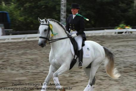 Pia Aragao and Zeppelim Interagro. (Photo: courtesy of Interagro Lusitanos)