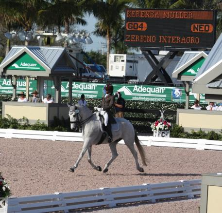 Zerbino Interagro and Kerensa Mueller competing in the Nations Cup.