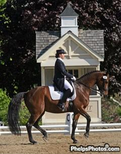 Reese and her KWPN imported mare Jamaica (by Chronos) had a successful run at the Grand Prix until an injury gave her a new career as a broodmare. Photo: © Mary Phelps