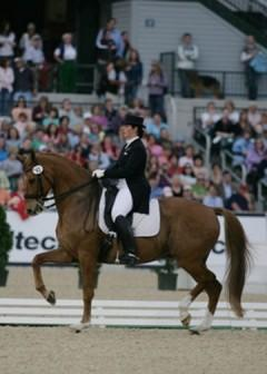On her hometown turf at the Kentucky Horse Park they performed at the Kentucky Cup in 2010, a test trial for the Alltech/FEI World Equestrian Games. Photo: © Mary Phelps