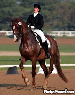 Reese Koffler-Stanfield leased Jennifer Conour's Fascination to earn her USDF Gold Medal in 2005. Photo: © Mary Phelps