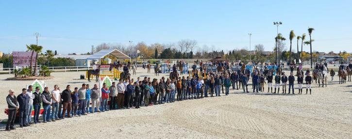 A minute's silence was held in memory of Andreas Hollmann at the Mediterranean Equestrian Tour at Oliva in Valencia (ESP) on Wednesday. (Photo: Hervé Bonnaud)