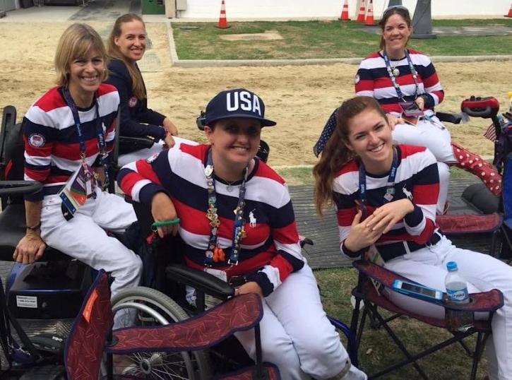2016 U.S. Paralympic Team: Margaret McIntosh,Rebecca Hart,Sydney Collier,Annie Peavy and individual rider, Roxanne Trunnell.