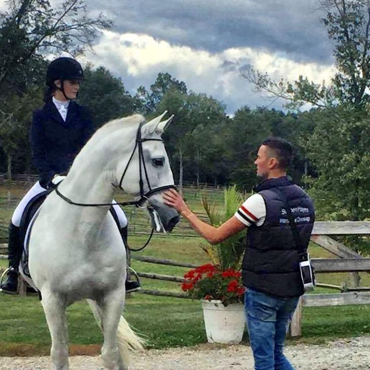 Stephen Hayes coaching one of his many young riders Anna Blazer. (Photo: Amanda Diefenbach Photography)
