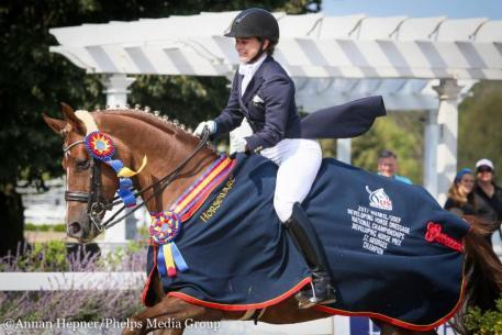 Anna Stovall and Frankie Markel/USEF Developing Horse Prix St. Georges Dressage National Champion © Annan Heppner/Phelps Media Group
