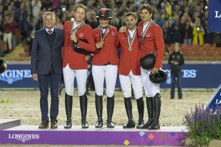 Switzerland secured the Bronze (Photo: FEI/Claes Jakobsson)