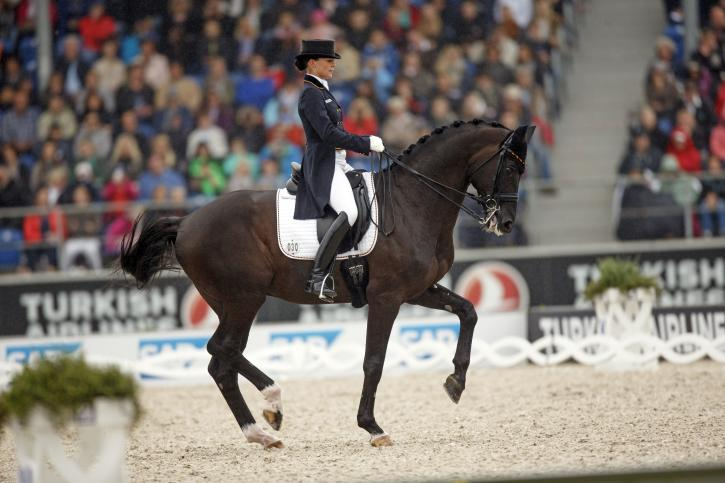 Kristina Bröring-Sprehe (GER) and Desperados FRH<br />Silver Medalist- Grand Prix<br />(Photo: Dirk Caremans)