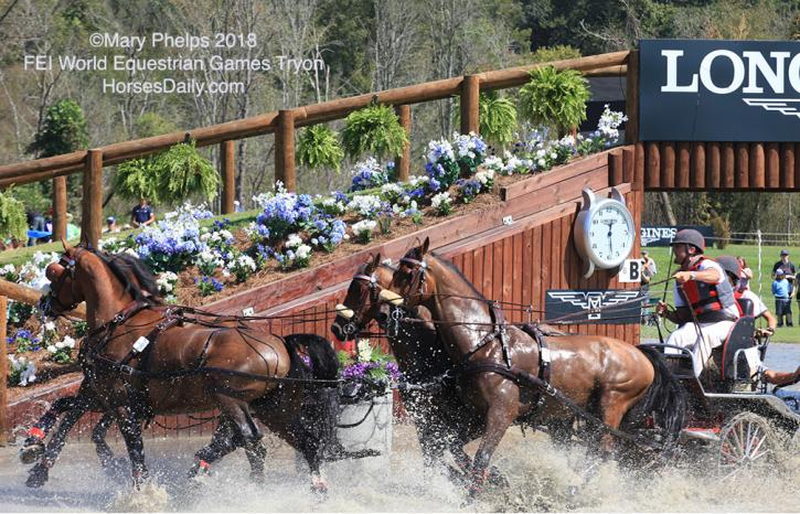 Chester Weberleads team USA after a blistering marathon. ©Mary Phelps 2018