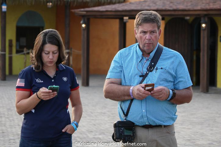 USEquestrian Director of Driving Danielle Aamodt and ADS President Mike Arnold