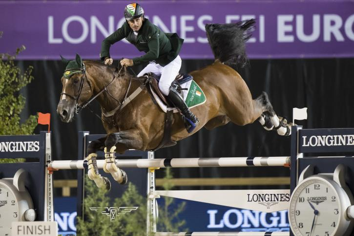 Denis Lynch (IRL) aboard All Star 5 (Photo: FEI)