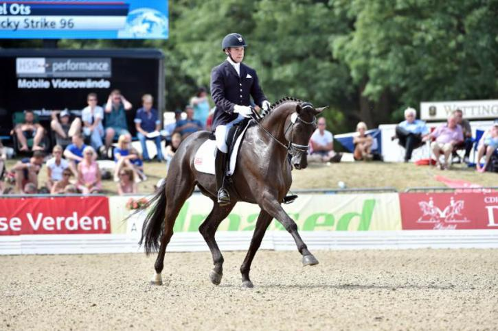 Endel Ots and Lucky Strike<br />FEI World Breeding Championships for Dressage Young Horses<br />Photo-Karl Heinz Frieler