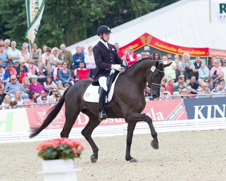"Endel Ots (USA) and Lucky Strike<br />FEI World Breeding Championships<br />Dressage Young Horses 2015<br />Photo: <a href=""http://pferdezucht-beuke.de/"" target=""_blank"">Christina Beuke</a>"
