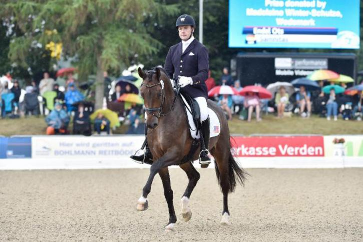 Endel Ots with Samhitas<br />FEI World Breeding Championships for Dressage Young Horses<br />Photo-Karl Heinz Frieler