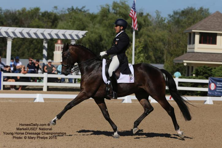 Cesar Parra and Fashion Designer OLD at the Markel/USEF Developing Horse Championships Photo: Mary Phelps