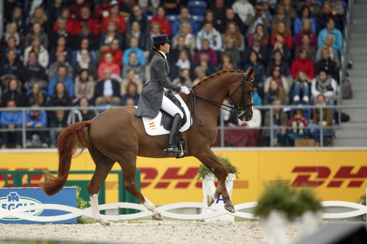 Beatriz Ferrer-Salat (ESP) and Delgado<br />Bronze Medalist- Grand Prix<br />(Photo: Dirk Caremans)