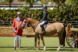 Finesse RF and Kat Fuqua finish second in the $5,000 USHJA Pony Hunter Derby (Photo: Anne Gittins Photography)