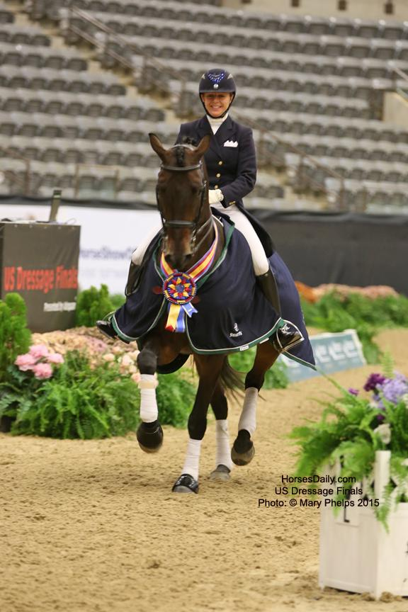 Gwen Poulin and William rock the victory round. Photo: © Mary Phelps 2015