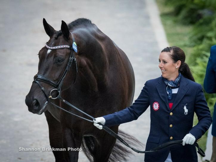 "Kasey Perry Glass and Dublet at Olympic vet check. Photo:<a href=""http://shannonbrinkman.zenfolio.com/"" target=""_blank""> Shannon Brinkman</a>"