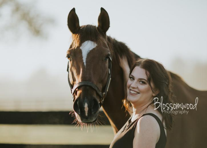 Kate Snyder (KY) and her Off-Track Thoroughbred, Safely Spun (Photo: Blossomwood Photography)