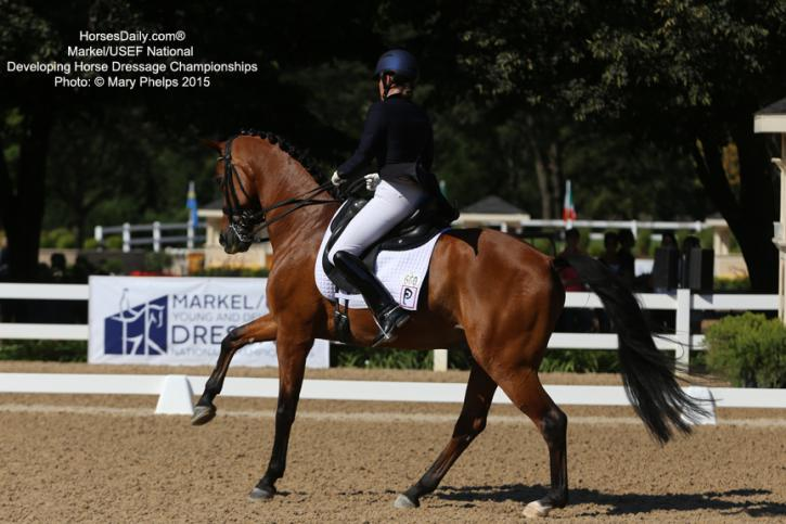 Katie Riley and Toy Story the Markel/USEF Developing Horse Championships Photo: Mary Phelps